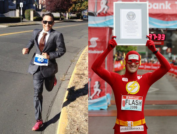 two-world-records-set-by-canadians-this-month-the-flash-stephane-hetherington-set-the-world-record-for-the-fastest-marathon-in-a-superhero-costume-running-2-34-04-at-the-scotiabank-toronto-waterfront-marathon-on-october-14th-while-lawyer-adam-campbell-set-the-world-record-for-the-fastest-marathon-run-in-a-suit-at-the-victoria-marathon-with-a-clocking-of-2-35-53
