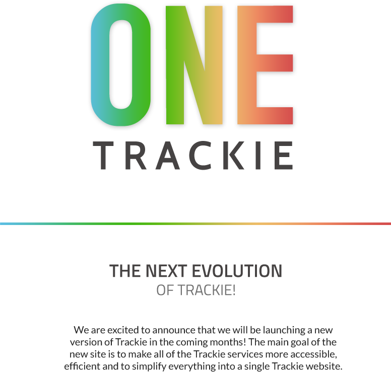 ONE Trackie is coming!